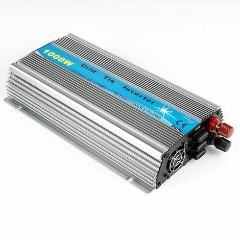JEOBEST®Cravate De Grille Inverter Pour Convertisseur pur sinus 1000W onduleur DC 20-45V argent-gris - Argent-gris