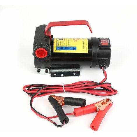 JEOBEST®DC Pompe de Vidange Diesel 175W fluide Extractor électrique Voiture auto vitesse - Rouge-noir