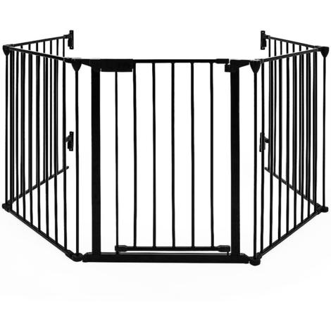 JEOBEST®Grilles de protection du foyer Barrière de sécurité en 5 pièces Barrière de sécurité pour enfants Barrière de sécurité grille de protection pour enfants pour cheminée et escaliers
