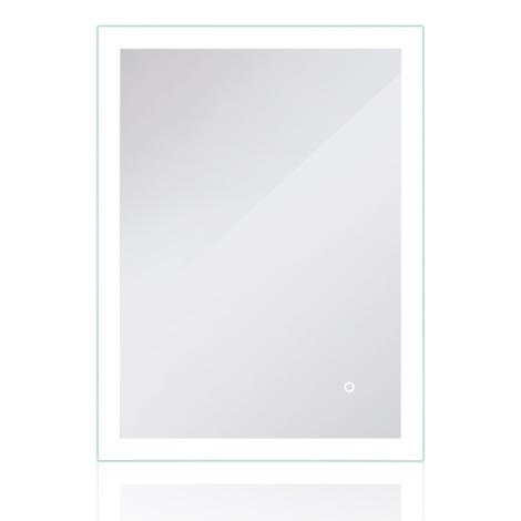 JEOBEST®Miroir de salle de bains à LED avec éclairage par surfaces lumineuses dépolies Tactile 80x60cm