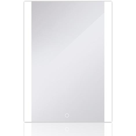 JEOBEST®Miroir de salle de bains avec cadre en aluminium blanc froid mat 60*80 cm