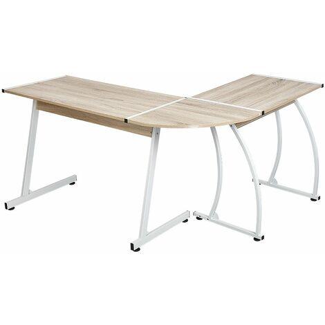 """main image of """"JEOBEST®Ordinateur de bureau bureau table de travail table de coin table de bureau PC plusieurs choix - Couleur chêne"""""""