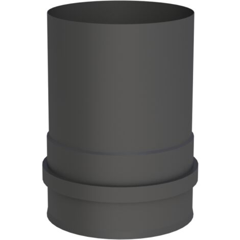 Pelletrohr Rosette 100 mm Schwarz Pellet Ofenrohr Rauchrohr Rohr