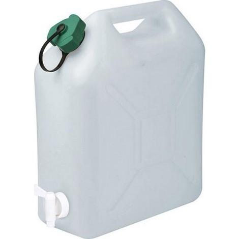 JERRICAN Alimentaire 20 litres extra fort avec bouchon et robinet - S18754