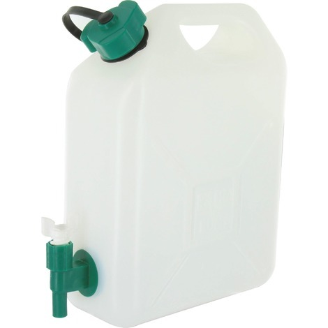 Jerrican alimentaire extra fort Eda - 5 l - Blanc