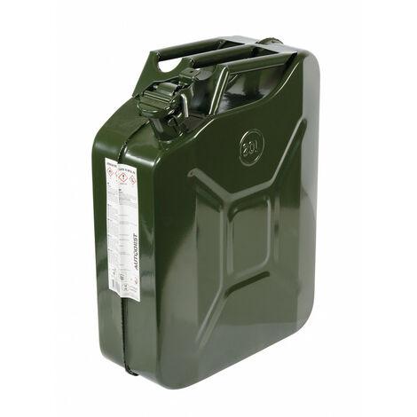 Jerrican métal, homologué 20 litres Type US - AUTOBEST