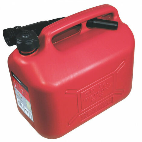 Jerrican plastique 10 litres HOMOLOGUE avec bec verseur - AUTOBEST