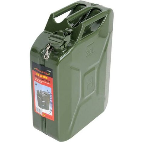Jerry Can 20 Litre Metal Green Tuv-Gs Gerry Can Fuel Gasoline Unleaded