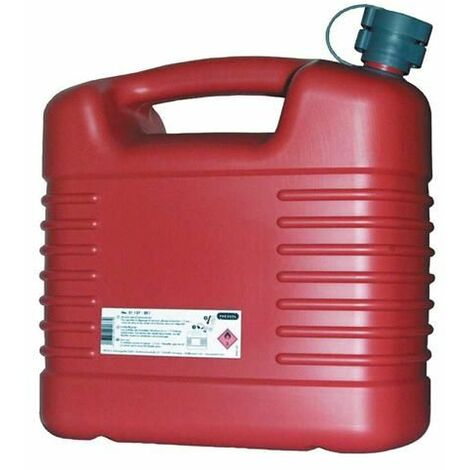 Jerrycan 'hydrocarbures' en plastique rouge - plusieurs modèles disponibles