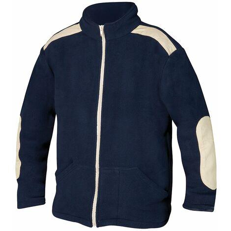 """main image of """"Jersey de trabajo forro polar con cremallera azul talla l"""""""