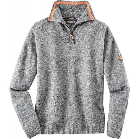 Jersey de trabajo gris abigarrado Talla .XL