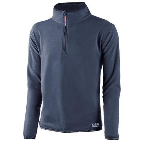 Jersey forro polar artic azul - talla