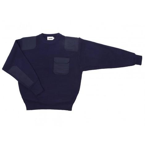 Jersey punto grueso con cuello redondo Serie 100