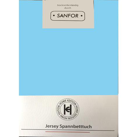 Jersey Spannbetttuch 100x200cm-D710895-hellblau
