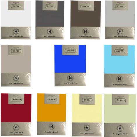 Jersey Spannbetttuch 100x200cm-hellblau-M710895-hellblau
