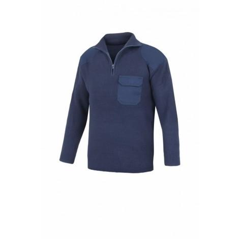 Jersey trabajo m bolsillo acril cremallera az/mar l4000 ves
