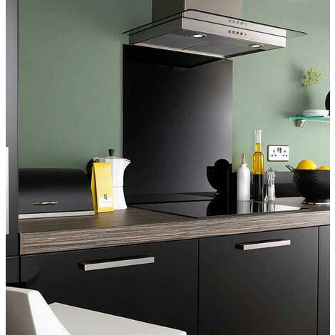 Jet Black Glass Kitchen Splashbacks - different dimensions available