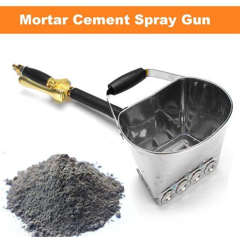 """main image of """"Jet de ciment de mortier avec jet de ciment de pulvérisateur de platre de pulvérisateur de mur de seau"""""""