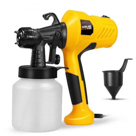 Jet d'eau de désinfection par pulvérisation électrique haute pression portable (jaune, prise UE)