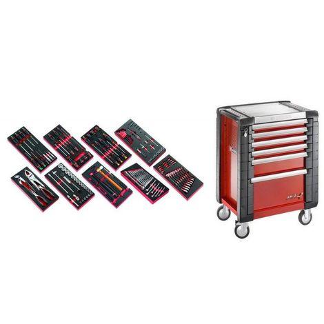 JET6M3.CM138 Sélection de 138 outils pour la maintenance automobile plus servante 6 tiroirs JET 6 tiroirs