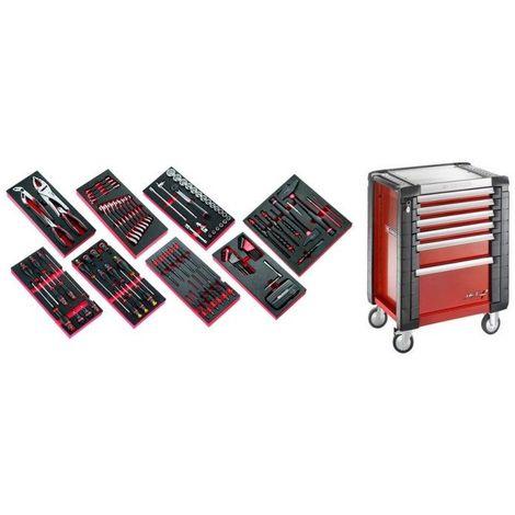 JET6M3.CMAG Sélection de 135 outils pour la maintenance agricole plus servante 6 tiroirs JET 6 tiroirs