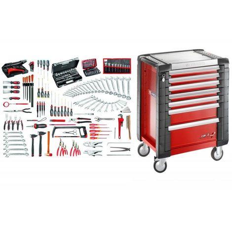 JET7.M140A Sélection maintenance industrielle 200 outils et servante 7 tiroirs 7 tiroirs