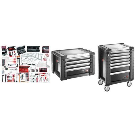 JET7.M150A Sélection maintenance industrielle 333 outils plus servante 7 tiroirs et coffre 7 tiroirs