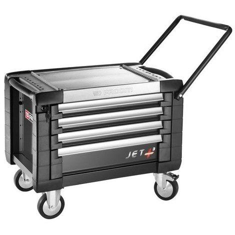 JET.CR4GM3PB. Coffre roulant JETM3 4 tiroirs noir 809.2