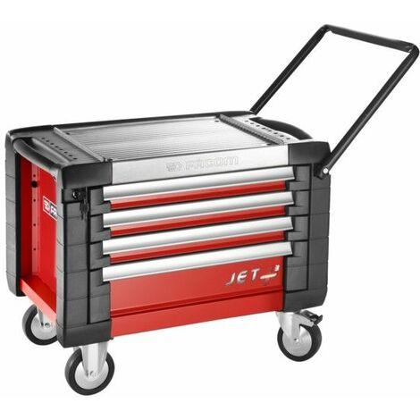 JET.CR4M3PB. Coffre roulant JETM3 4 tiroirs rouge 850.34