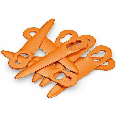 Jeu 8 couteaux Stihl PolyCut orange