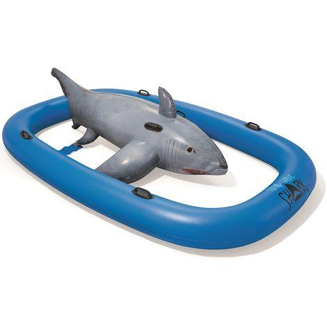 Jeu aquatique gonflable Géant BESTWAY WAVE SHARK RIDE Dim 310 x 213 ...