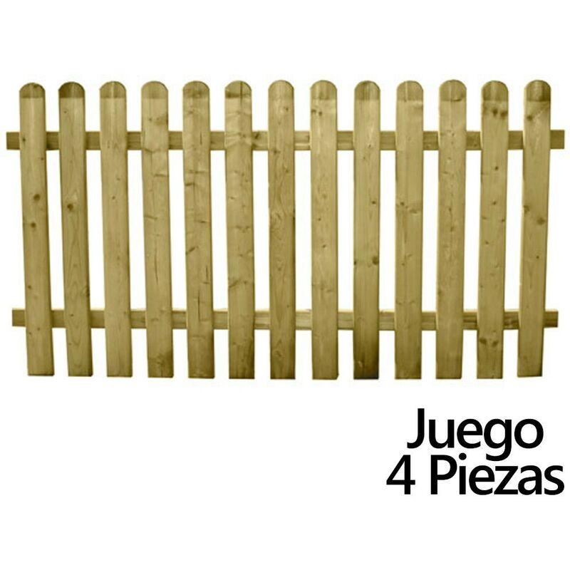 Jeu Clôtures de jardin en bois 180x 100 cm. (4 pièces)