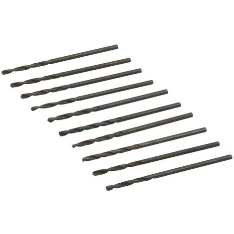 Jeu de 10 mèches métriques acier rapide HSS - 1,5 mm