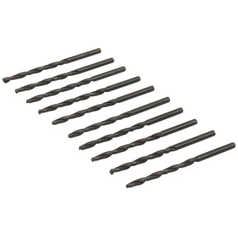 Jeu de 10 mèches métriques acier rapide HSS - 3,0 mm