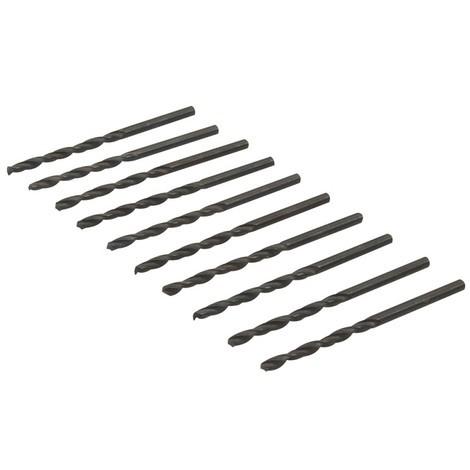 Jeu de 10 mèches métriques acier rapide HSS - 3,2 mm