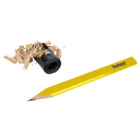 Jeu De 12 Crayons De Charpentier Et 1 Taille-Crayon