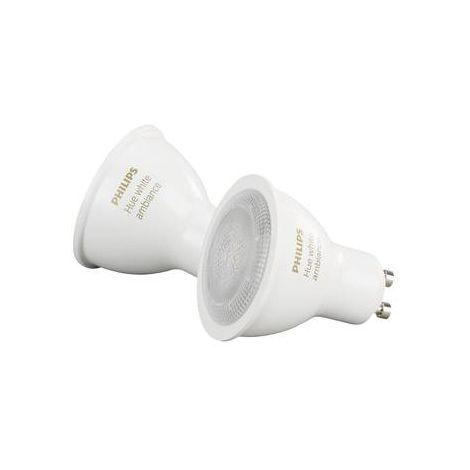 Jeu de 2 ampoules LED 5.5 W 2x GU10 Philips Lighting White 2P 60553700 2 pc(s)