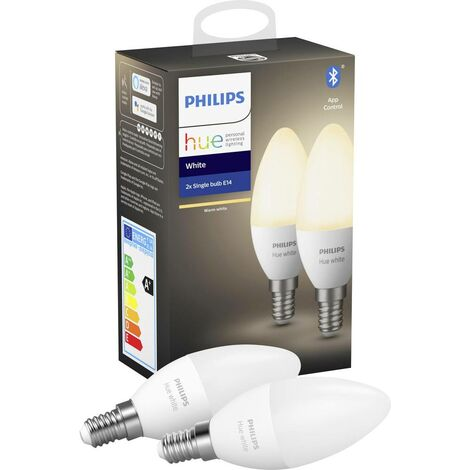 Jeu de 2 ampoules LED 5.5 W x E14 Philips Lighting White 929002039902 1 pc(s)