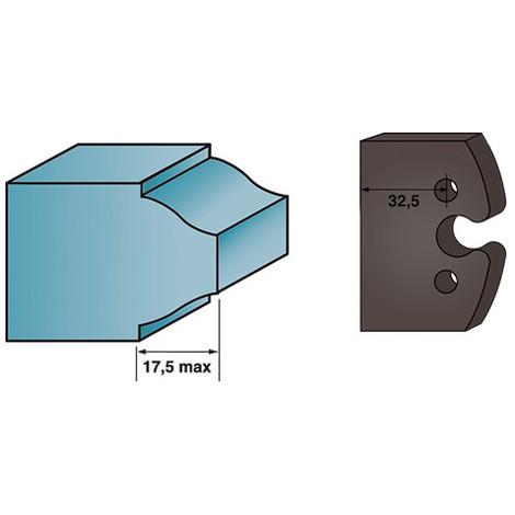 Jeu de 2 contre-fers profilés Ht. 38 x 4 mm BRUT A193 pour porte-outils de toupie - Diamwood Platinum
