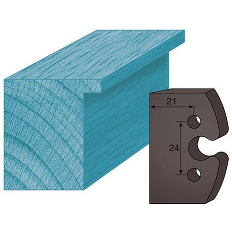Jeu de 2 contre-fers profilés Ht. 38 x 4 mm BRUT A195 pour porte-outils de toupie - Diamwood Platinum