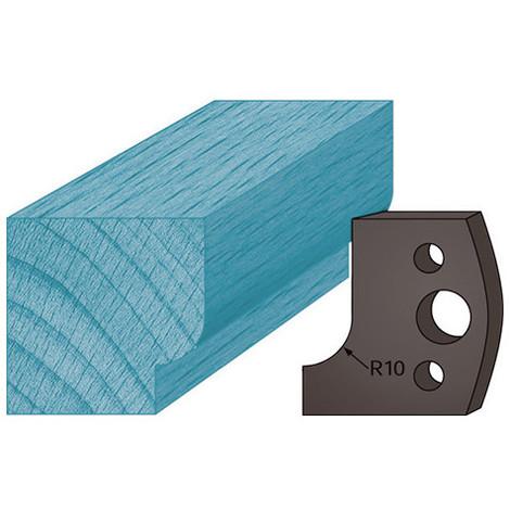 Jeu de 2 contre-fers profilés Ht. 38 x 4 mm congé A13 pour porte-outils de toupie - Diamwood Platinum