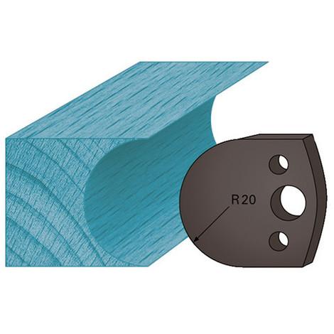 Jeu de 2 contre-fers profilés Ht. 38 x 4 mm congé A131 pour porte-outils de toupie - Diamwood Platinum
