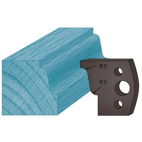 Jeu de 2 contre-fers profilés Ht. 38 x 4 mm doucine A31 pour porte-outils de toupie - Diamwood Platinum