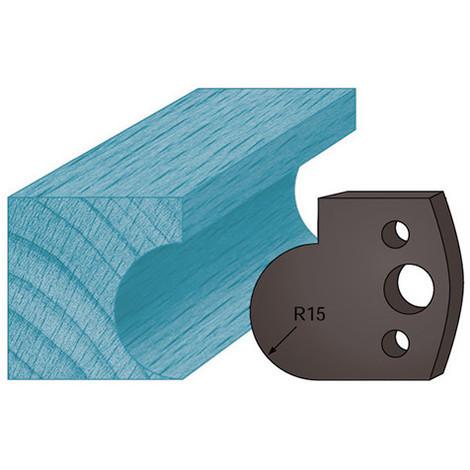 Jeu de 2 contre-fers profilés Ht. 38 x 4 mm gorge A65 pour porte-outils de toupie - Diamwood Platinum