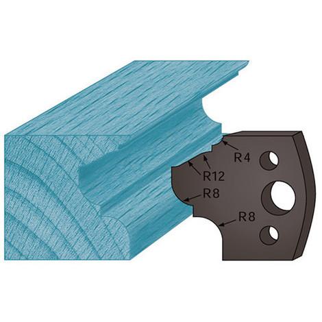 Jeu de 2 contre-fers profilés Ht. 38 x 4 mm moulure style A89 pour porte-outils de toupie - Diamwood Platinum