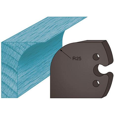 Jeu de 2 contre-fers profilés Ht. 48 x 5,3 mm congé A218 pour porte-outils de toupie - Diamwood Platinum