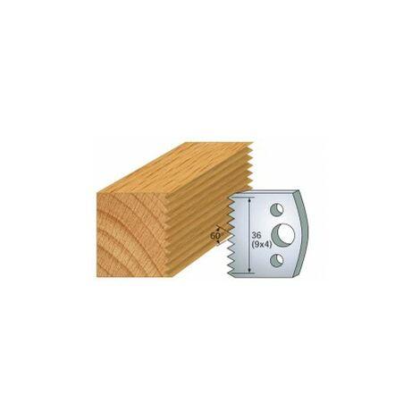 Jeu de 2 fers 40 mm assemblage pour porte outils 40 et 50 mm