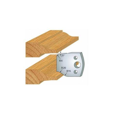 100 : jeu de 2 fers 40 mm plate bande pour porte outils 40 et 50 mm