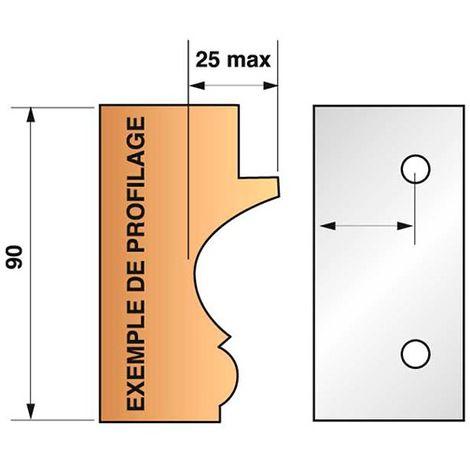 Jeu de 2 fers bruts N°299 pour porte-outils Ht. 90 mm - 955.299 - Leman - -