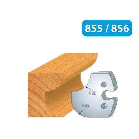 Jeu de 2 fers congé et 1/4 de rond 20 mm 855.238